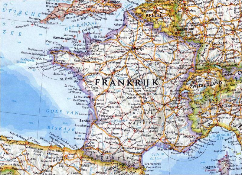 westkust frankrijk kaart