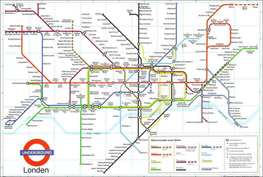 Metro Plattegrond Londen